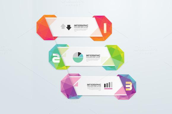 Geometric Number Banners Modern