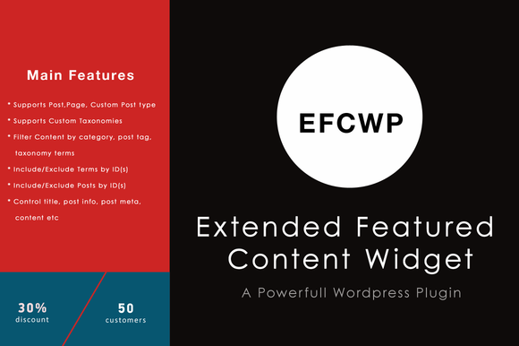Extended Featured Content Widget