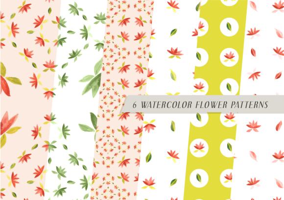 Watercolor Flower Patterns