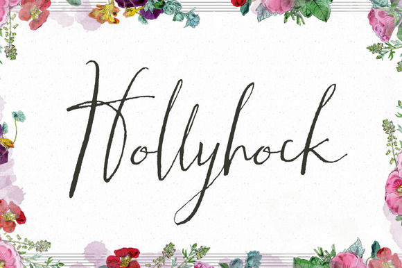 Hollyhock A Messy Calligraphy Font
