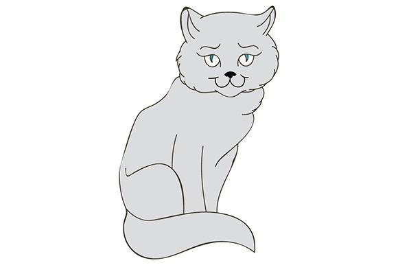 Beautiful Kitty Illustration