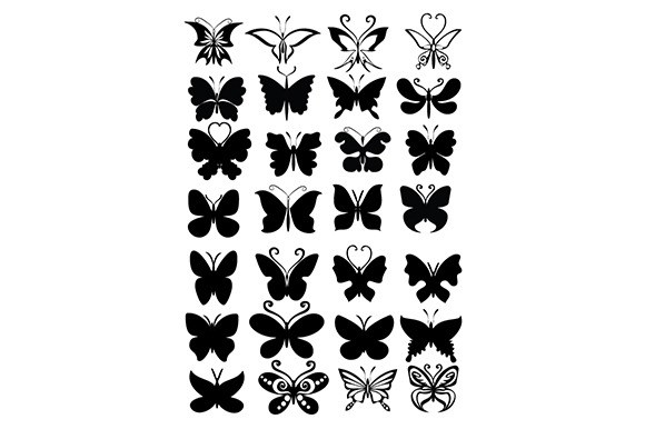 Butterfly Shapes Illustration