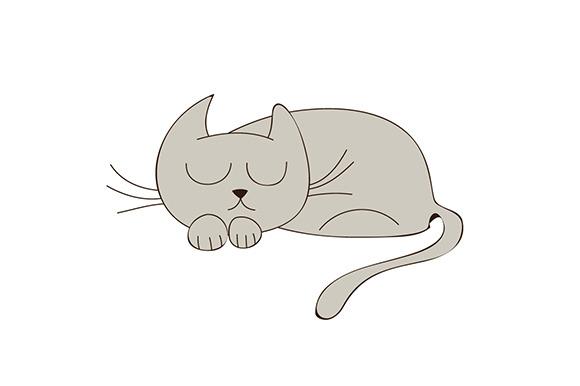 Sleepy Kitty Illustration