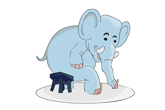 Elephant Sitting On Chair