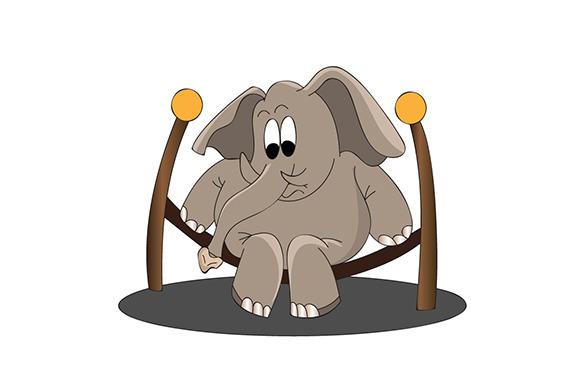 Elephant On A Swing
