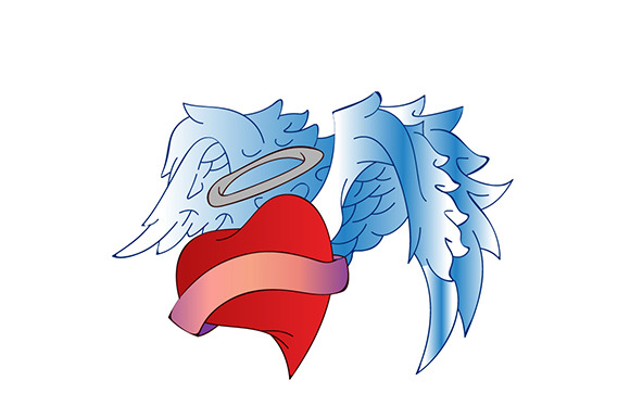 Angel Heart Badges