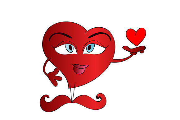 Blue Eyes Cartoon Heart