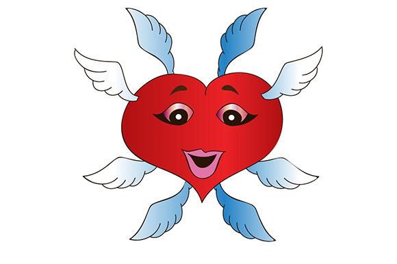 Valentine Angel Illustration