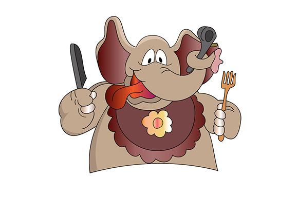 Elephant In The Kitchen Illustrati
