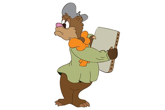 Bear Holding A Laptop