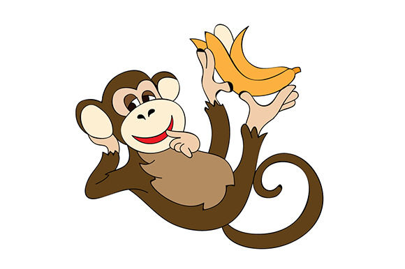 Happy Monkey Illustration