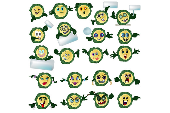 Mascots Expression Faces