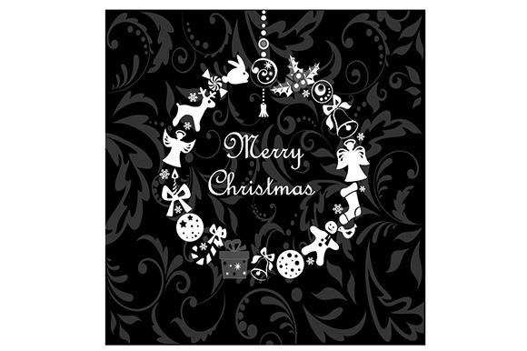Christmas Swirls Wreath