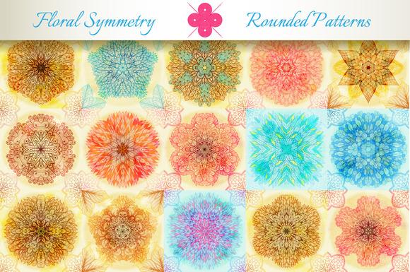 15 Floral Symmetry Patterns Set #2