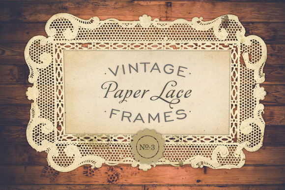 Antique Paper Lace Frames No 3