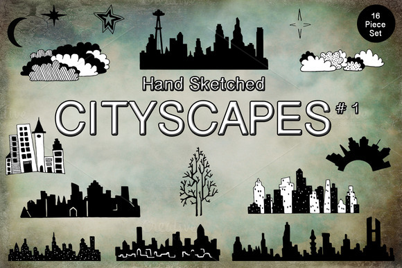 Hand Sketched Cityscape Images