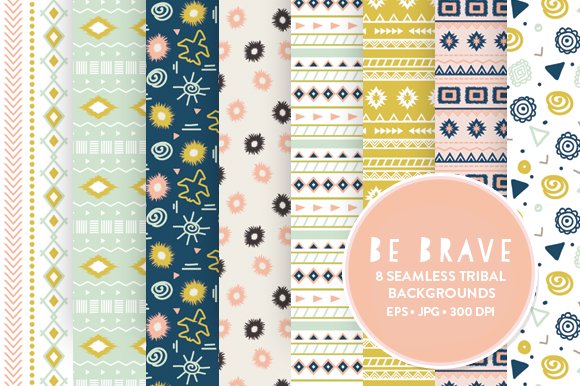 8 Seamless Tribal Patterns Design