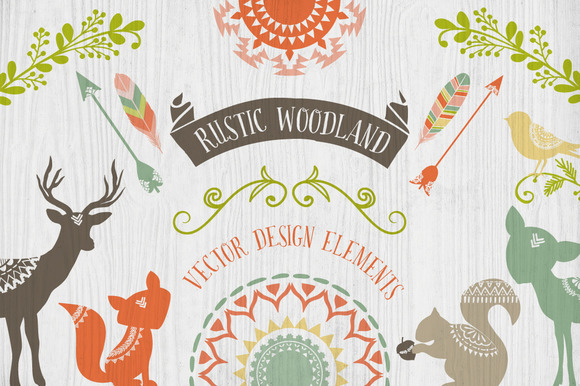 Rustic Woodland Design Elements