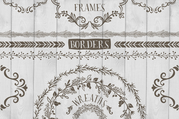 Frames Wreaths And Borders