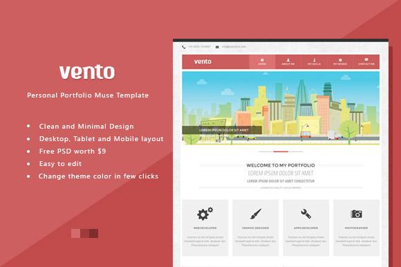 Vento Portfolio Muse HTML Template