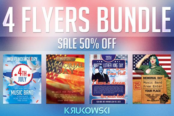 USA Holidays Flyers Bundle