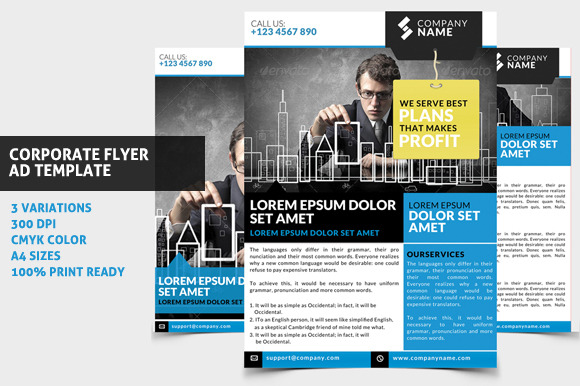 Corporate Flyer Ad Template 01