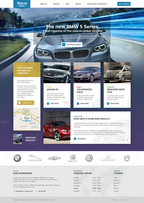 Vehicle Dealer PSD Template