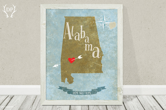 Alabama State Art Printable