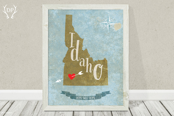 Idaho State Art Printable