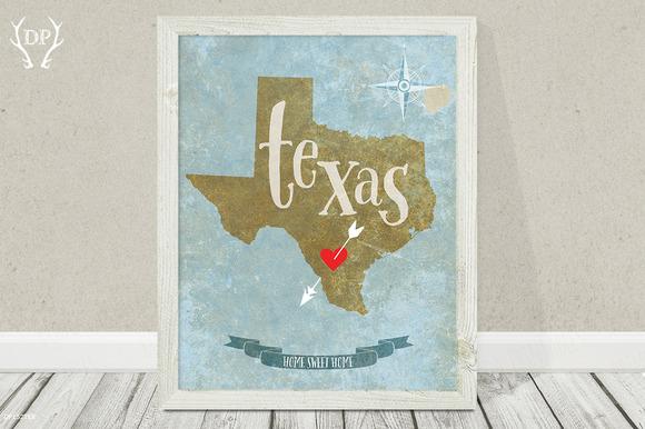 Texas State Wall Art Printable