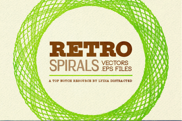 Retro Spirals Scaleable Vector
