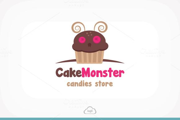 Cake Monster Logo Template