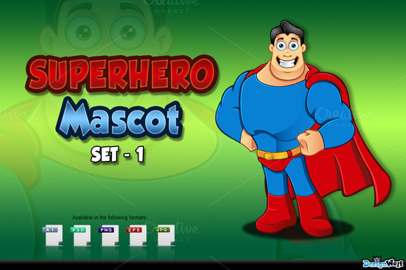 Superhero Mascot Set 1