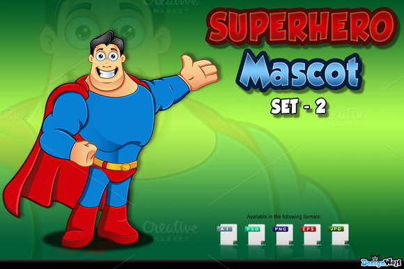 Superhero Mascot Set 2