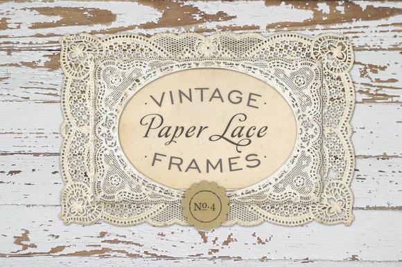 Vintage Paper Lace Frames No 4