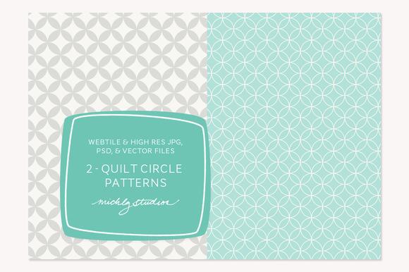 2 VECTOR PSD Quilt Circle Patterns