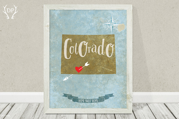 Colorado State Wall Art Printable