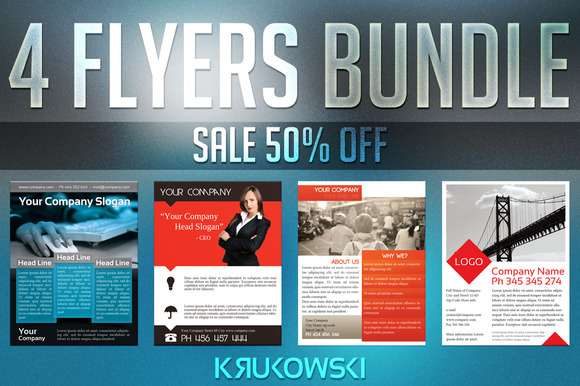 Company Flyer Templates Bundle