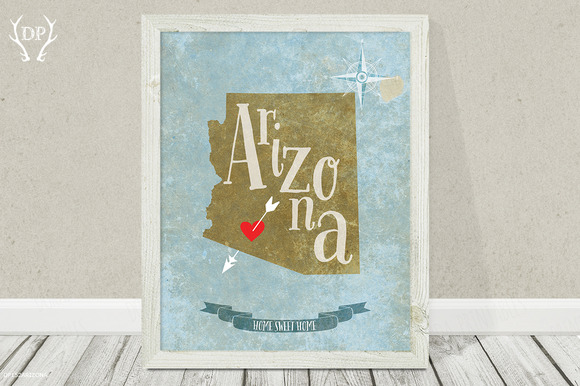 Arizona State Digital Printable Art