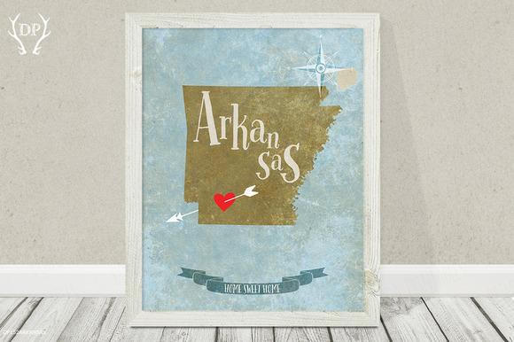 Arkansas State Art Printable