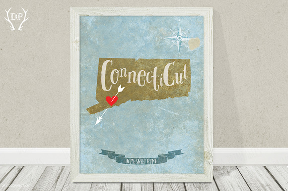 Connecticut Wall Art Printable