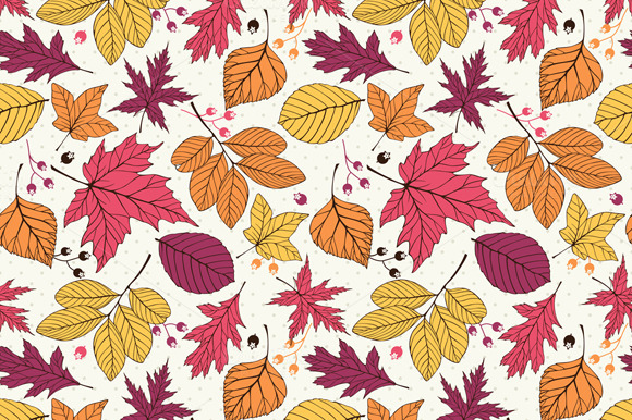 Vector Pattern With Autumn Leaves