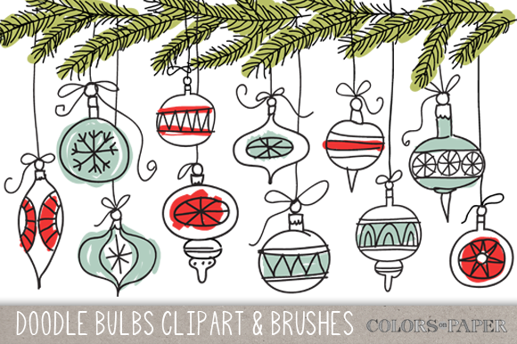 Hand Drawn Bulbs Clipart And Brushes