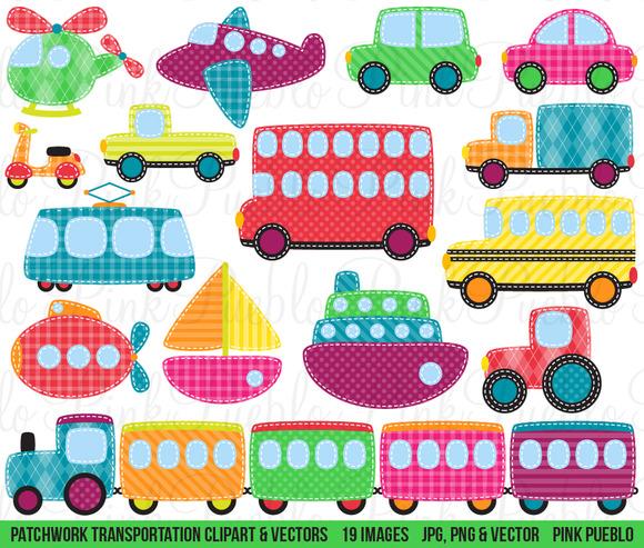 Patchwork Transportation Graphics