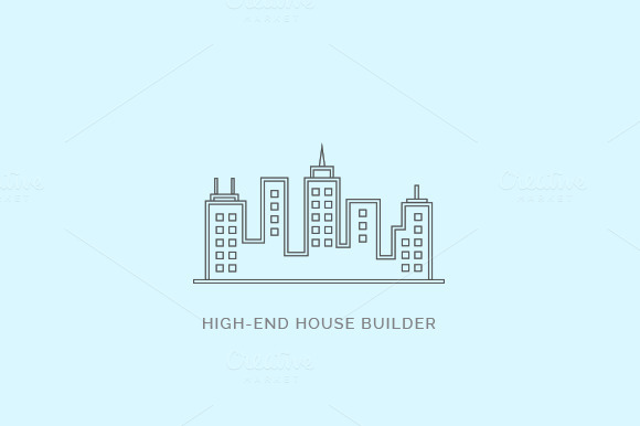 High End House Builder Logo