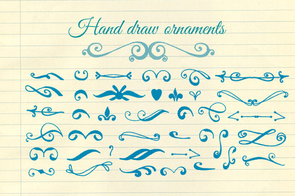 Hand Draw Ornaments