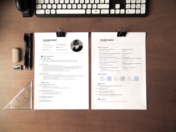 CV Resume And Cover Letter Template