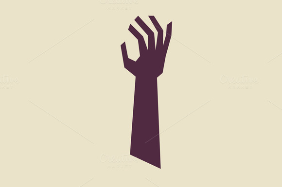 Stylized Illustrated Arm With Hand