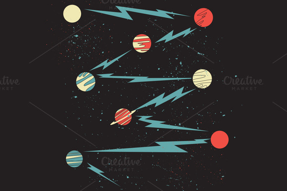 Retro Planets And Stars