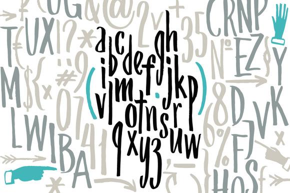 Compact Handwritten Font